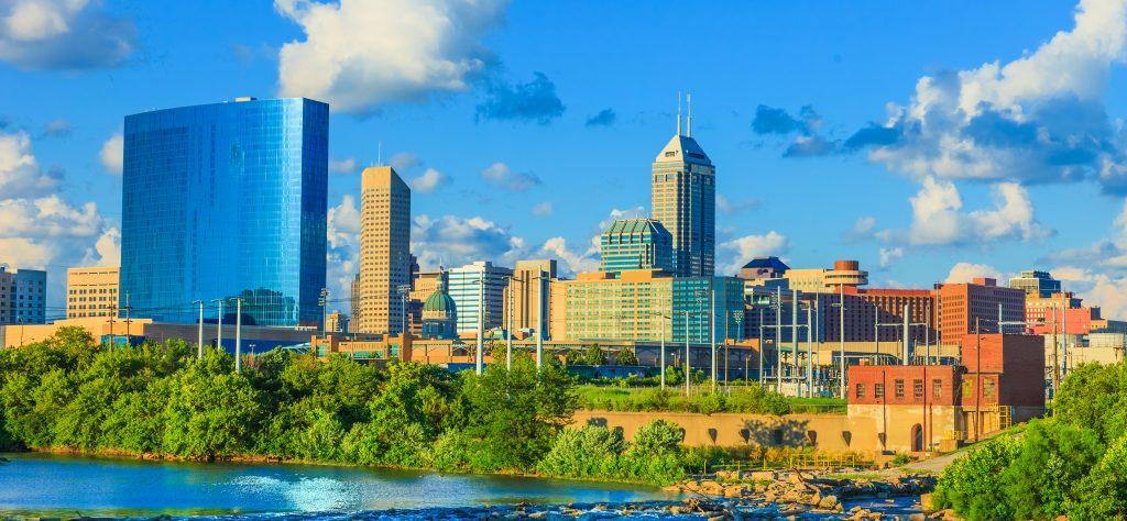 Indianapolis skyline, Indiana